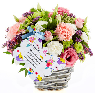 flowercard flower basket