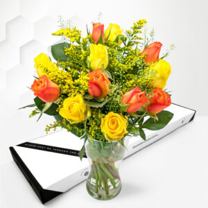 Sunset Roses - Letterbox Flowers - Letterbox Flower Delivery - Letterbox Roses - Letterbox Flower Gifts